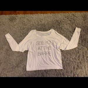 Long sleeve barre shirt